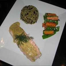 Poached Salmon With a Mustard-Dill Sauce