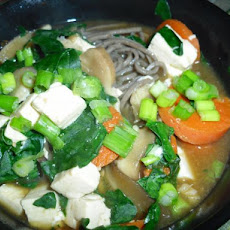 Soba Soup With Spinach and Tofu