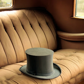 Steppin' Out by Jim Stough - Artistic Objects Clothing & Accessories ( keels and wheels, texas, silk hat, top hat, rolls royce, auto, suddenjim, seabrook, hat )