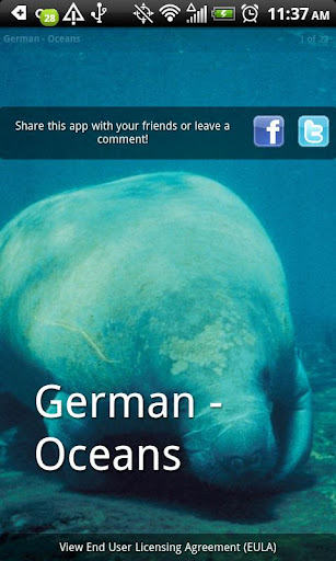 Learn German - Oceans