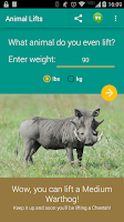Screenshot of What Animal Can You Lift?