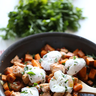 Sweet Potato Hash with Salmon and Eggs