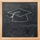 Blackboard for toddlers icon