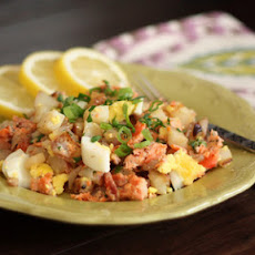 Smoked Salmon and Red Potato Hash