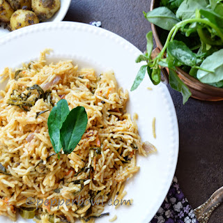 Methi Biryani / Fenugreek Leaves Rice