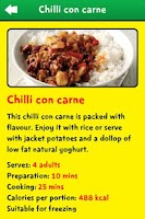 Screenshot of Change4Life Smart Recipes