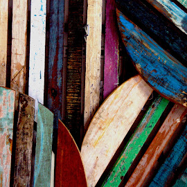 Colour Pallets by Sean Laffey - Abstract Patterns ( old timber, colored wood, coloured wood, palette, pallets )