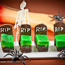 Cheesecake Brownie Tombstones