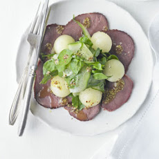 Smoked Venison With Melon Salad