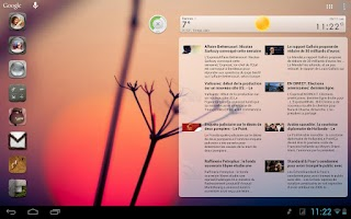 Screenshot of Scrollable News Widget