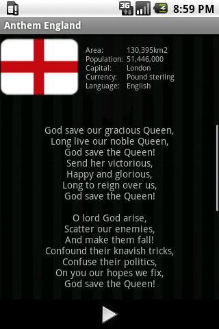 国歌イングランド