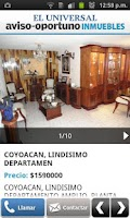 Screenshot of Aviso Oportuno Inmuebles