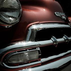 Hot Grill by Jarrod Kudzia - Transportation Automobiles ( car, grill, chevrolet, automobile, chrome, chevy,  )