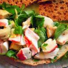 Crab Salad and Buttermilk Caesar Dressing
