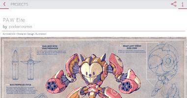 Screenshot of Sharpee - Behance powered