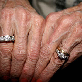 Grandma's Rings by David Cummings - People Body Parts ( hand, hands, fingers, wedding band, rings )
