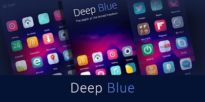 Screenshot of Deep Blue GO Launcher Theme