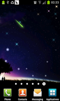 Screenshot of meteor and moon livewallpaper