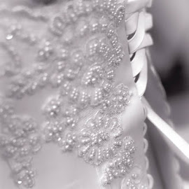 by Brandi Hollywood - Wedding Getting Ready ( lace, wedding photography, black and white, wedding, wedding dress,  )