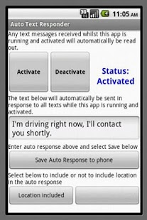 Automatic  Text Reply! - screenshot