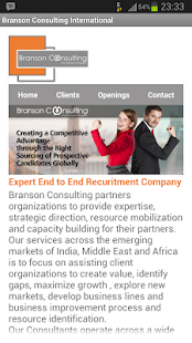 Branson Consulting - screenshot