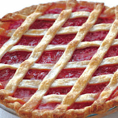 Rhubarb Lattice Pie with Cardamom and Orange