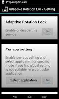 Screenshot of Rotation Lock Adaptive