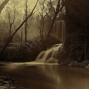 FANTASIA by Miguel Lopez De Haro - Black & White Landscapes ( cascadas, blanco y  negro, paisaje, efecto seda,  )