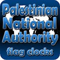 Palestinian flag clocks icon