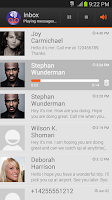 Screenshot of Visual Voicemail by MetroPCS