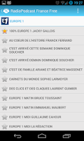 Screenshot of RadioPodcast France Free