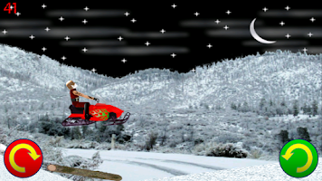 Screenshot of Snowmobile Santa - Racing Game