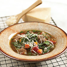 Meatball Soup with Spinach