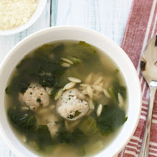 Escarole Soup with Turkey Meatballs (Italian Wedding Soup)