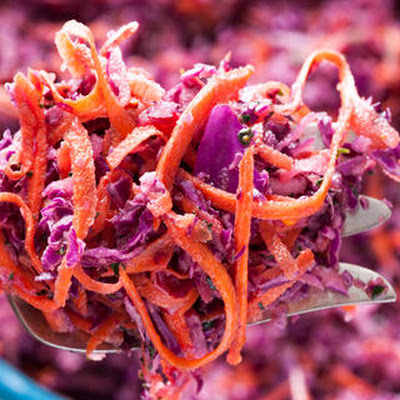 Cabbage and Carrot Herbed Slaw