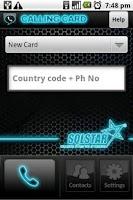 Screenshot of Calling Card
