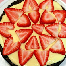 Strawberry Brownie Tart