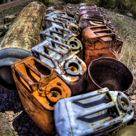 Gas Cans by Dave Zuhr - Artistic Objects Other Objects ( gas, old, cans, d_zuhr, dzuhr,  )