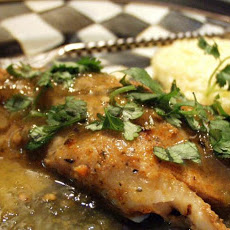 Blackened Fish With Salsa Verde (Low Carb)