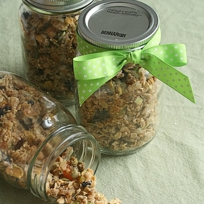 Chewy Apricot-Blueberry Granola