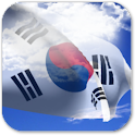 3D South Korea Flag icon