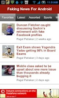 Screenshot of Faking News For Android