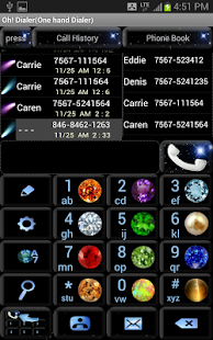 Oh! Dialer (One-hand Dialer) - screenshot