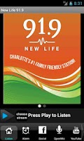 Screenshot of New Life 91.9