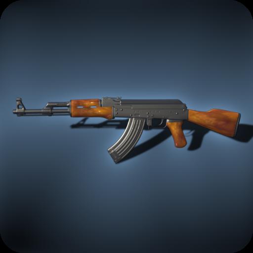 娱乐のAK-47自動小銃 LOGO-記事Game