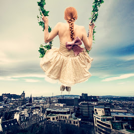 CitySwing by Lauren Stirling - People Fashion ( fashion, dress, ethereal, fashion photography, landscape )