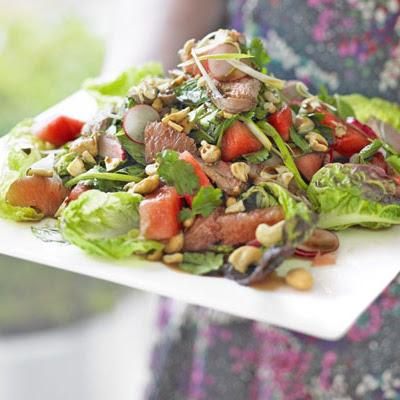 Duck, Watermelon & Herb Salad With Roast Cashews