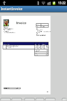 Screenshot of InstantInvoice Lite PDF