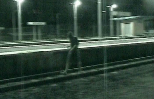 Train-surfer madness caught on video