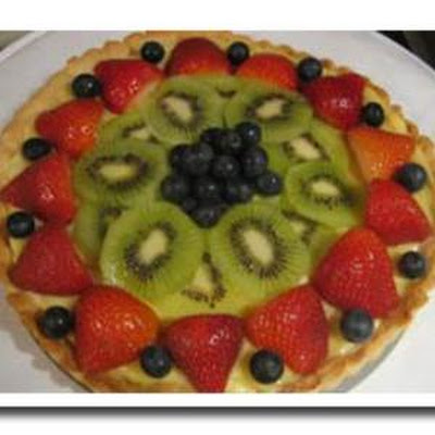 Cream Cheese Tart with Fresh Spring Fruit
